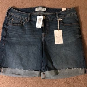 Torrid Denim Shorts NWT